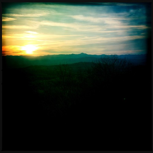 sunset mountains serene jumpoffrock ncarolina johnslens dcfilm hipstamatic