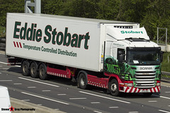 Scania G400 4x2 Tractor with 3 Axle Refrigerated Curtainside Trailer - PF10 VRG - Esther Robina - Eddie Stobart - M1 J10 Luton - Steven Gray - IMG_7662 (2)