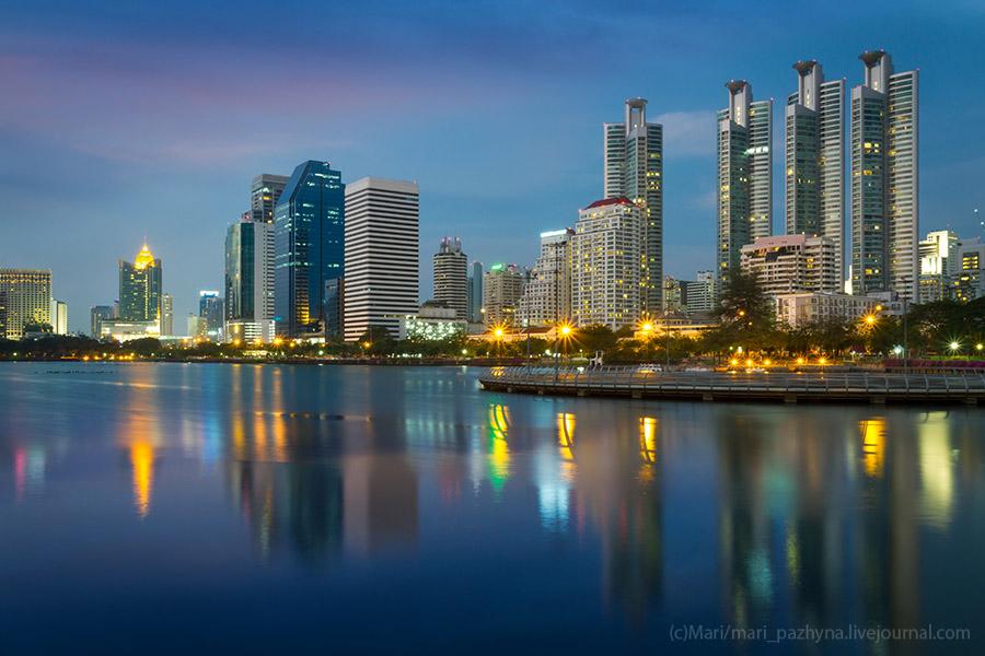 Bangkok city, Benjakiti park, Thailand