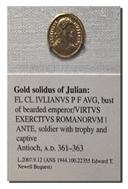 Gold solidus of Julian
