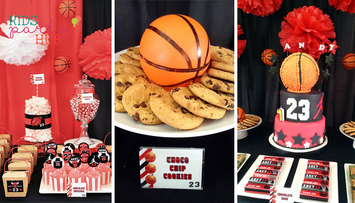 Basketball Themed Birthday Party Food