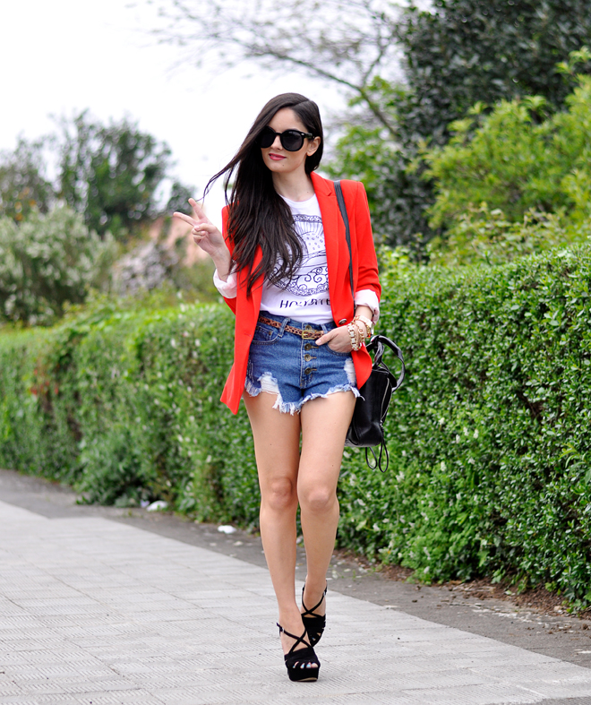 Red Zara Blazer_05