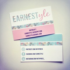 Blogger business cards <3