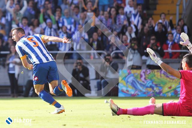 Liga Adelante. R.C.Deportivo 1 - Real Jaén 0