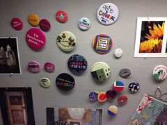 Essence of the workplace in buttons