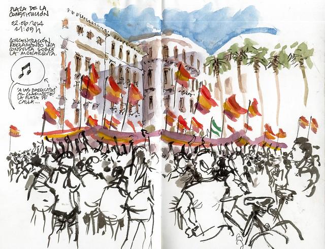 Málaga, demonstration