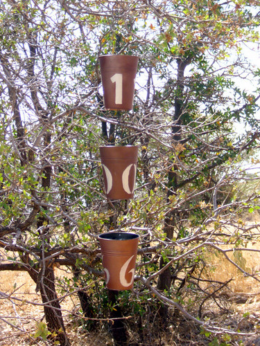 Hanging Birdfeeder Address Pots