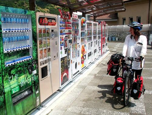 Girl vs vending machines