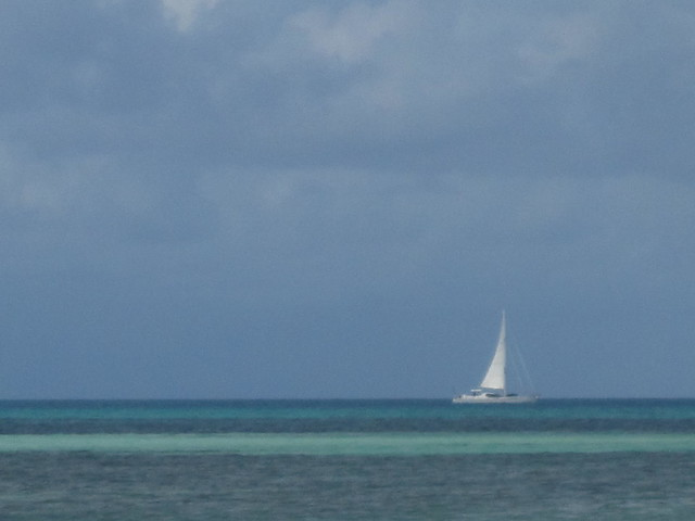 Sail Boat of the Coast of CoCoCay