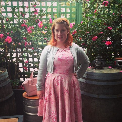 Me made May: the 9th in a floral Butterick frock #mmmay14 #butterick #sewing #floral