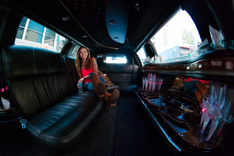 Deya in a Limo