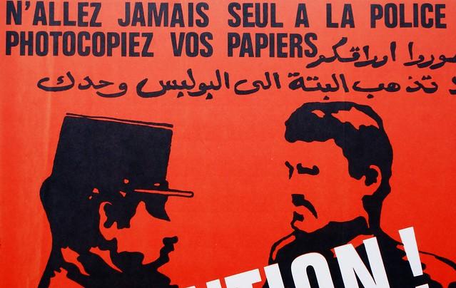 Message d'information à l'adresse des immigrées arrivant à Lyon.