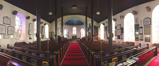 Interior of St Marys Church, Dolgellau