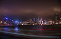 Cruising along Hong Kong skyline