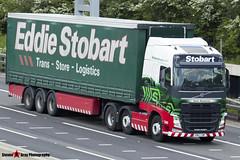 Volvo FH 6x2 Tractor with 3 Axle Curtainside Trailer - KM63 SWF - H4972 - Katie Madeleine - Eddie Stobart - M1 J10 Luton - Steven Gray - IMG_9727