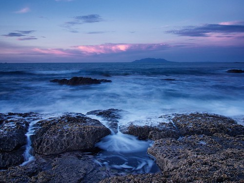longexposure newzealand rock dusk wave pacificocean northisland omaha rodney haurakigulf aucklandarea matakanacoast omahabay littleomahabay tekiepoint