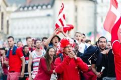 Fans de foot - Lausanne - Coupe du Monde 2014 - Après le match Suisse - Equateur