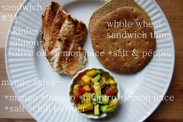 52 sandwiches  no. 34: salmon & mango salsa