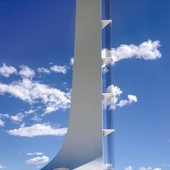 Tension in the Clouds :: #santiago #calatrava #sundial #bridge #redding #california #cable #stays #engineering #structure #pylon #cable #suspenion #sculpture #beautiful #sky #clouds #cloudscape #concrete #design #architecture