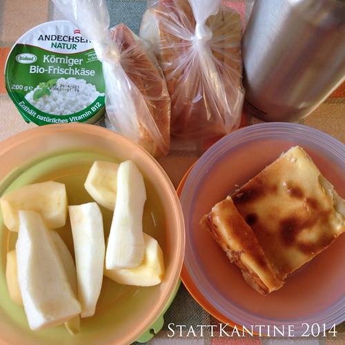 StattKantine 30.06.14 - Hüttenkäse, Käsekuchen, Obst