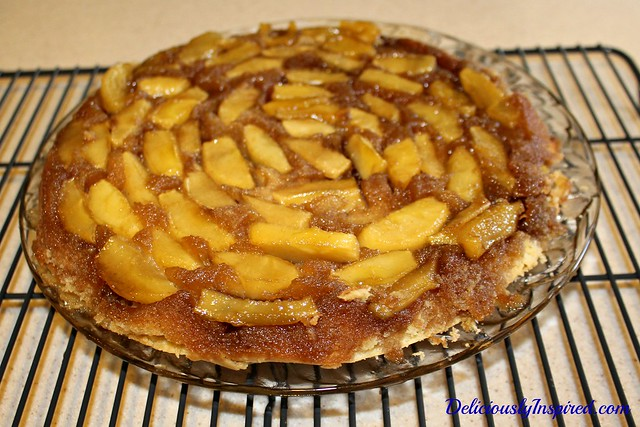 Apple Cake - before flip