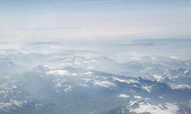 Fly over Alps