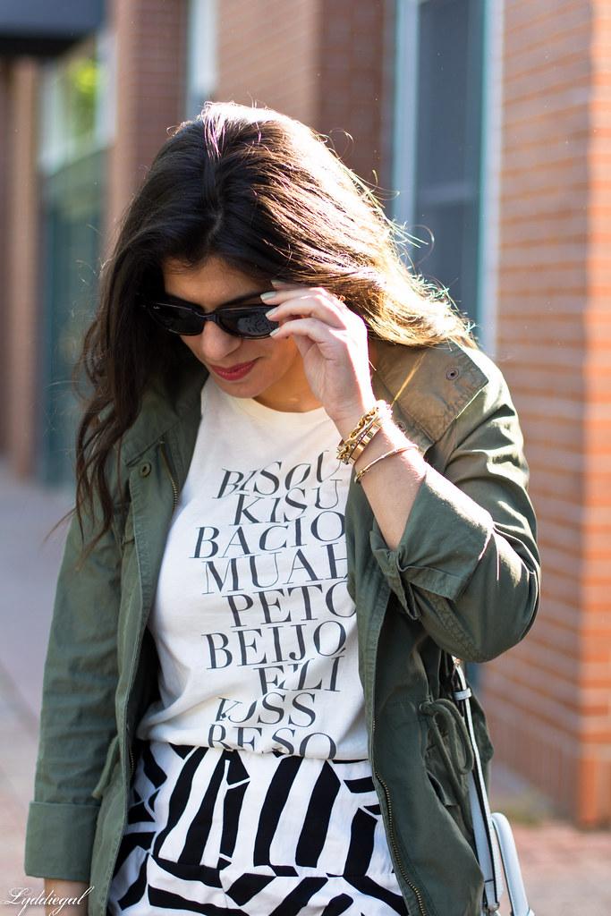 kiss tee, utility jacket, black and white skirt-4.jpg