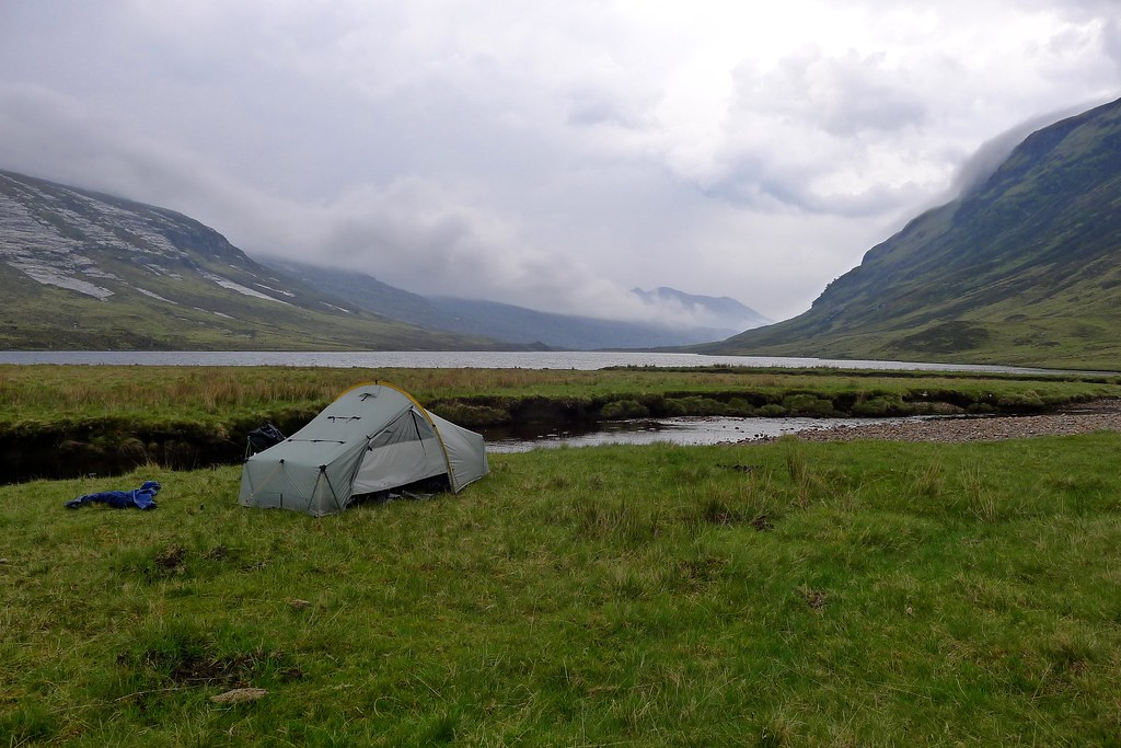 Wild camp by Loch an Nid