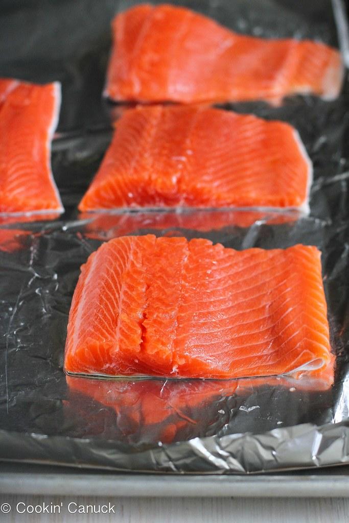 Salmon & Avocado Salad Recipe with Miso Lime Dressing | cookincanuck.com