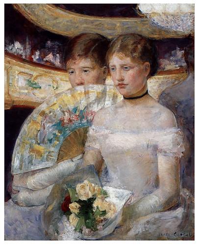015- El palco- 1882- Pintura al oleo- Mary Cassatt.