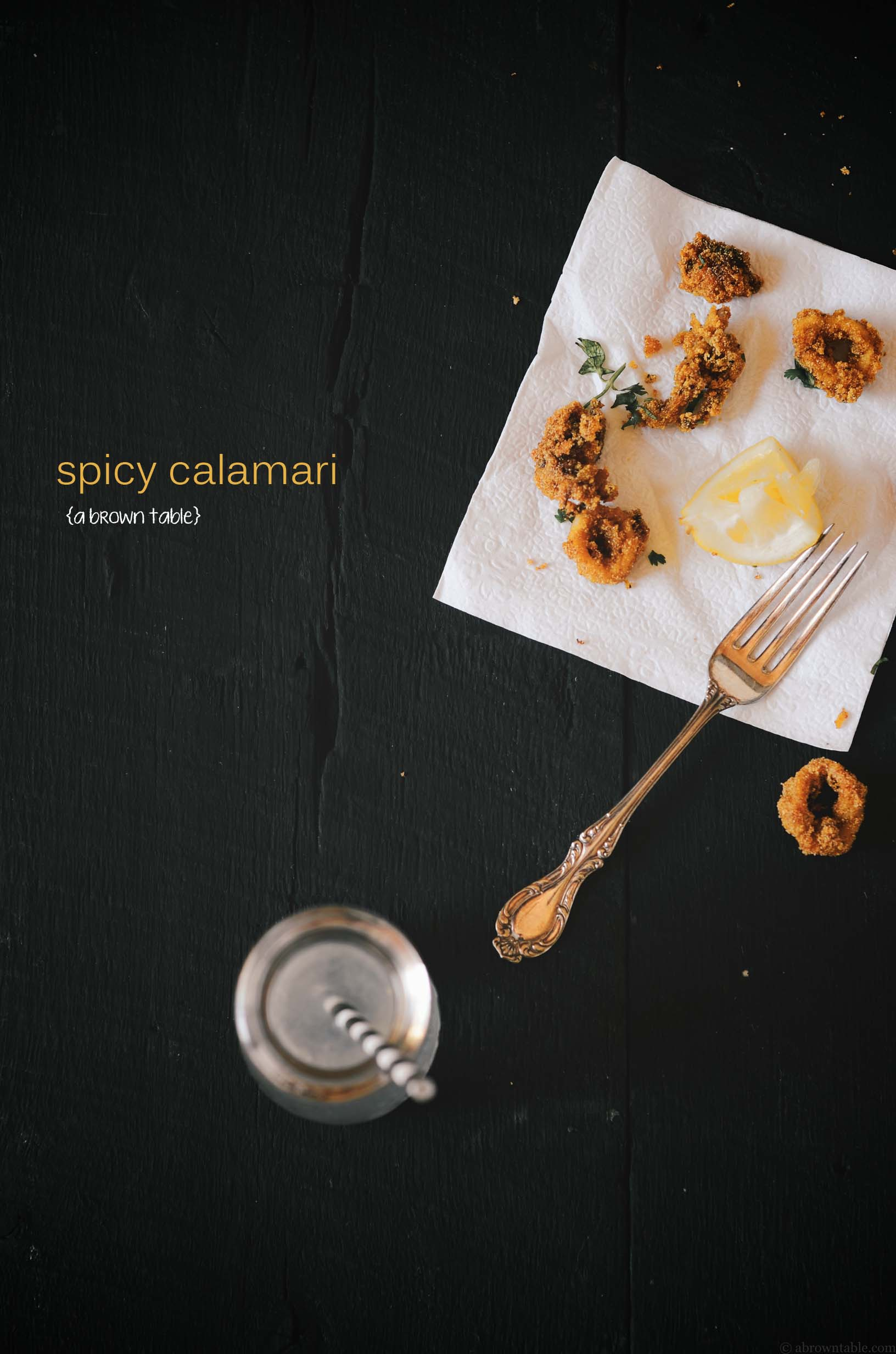 spicy calamari goan indian style