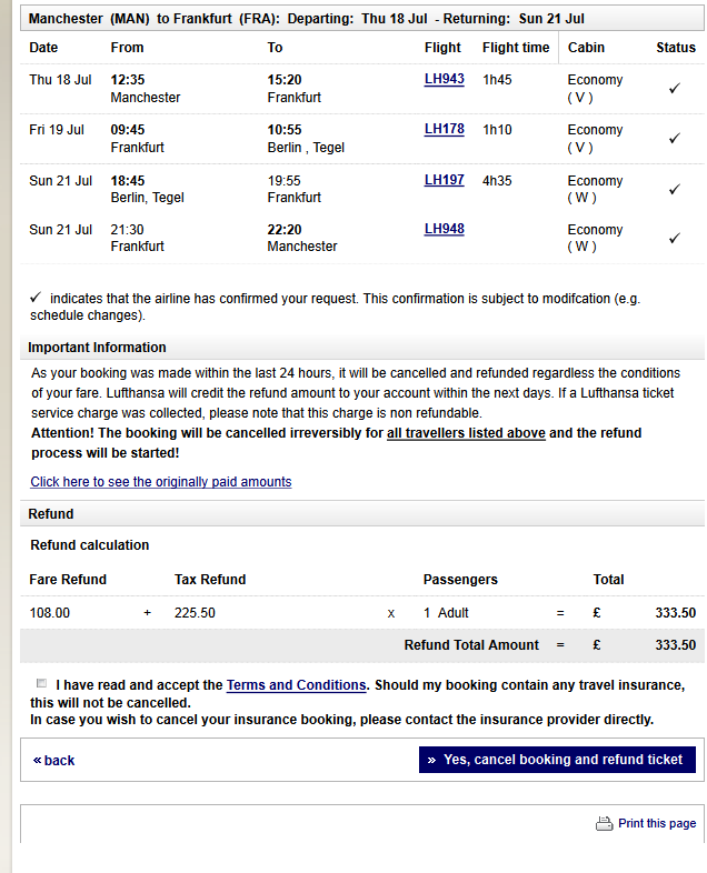 Lufthansa flight cancellation fee