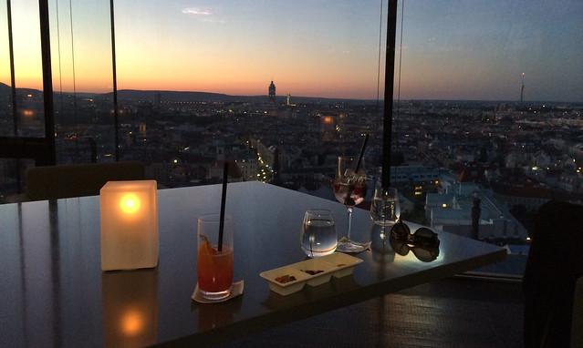 Abenddämmerung über Wien