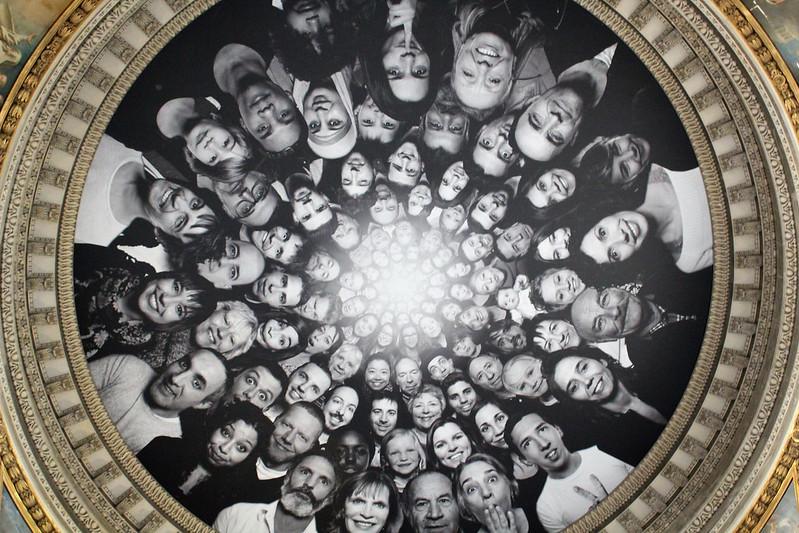 JR au Panthéon visages sur le dôme
