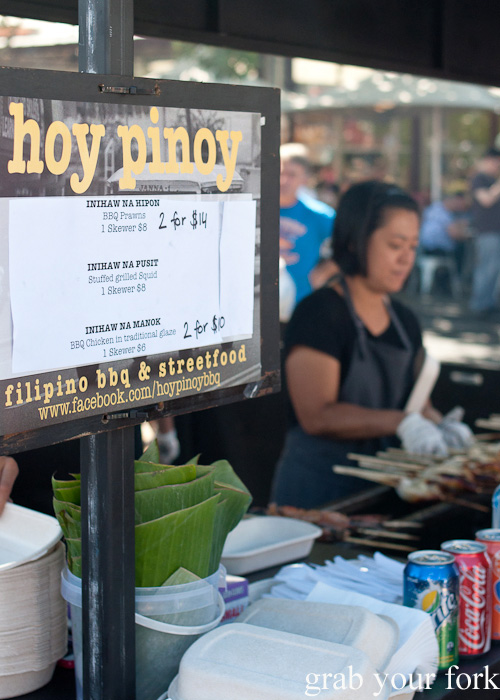 Hoy Pinoy Filipino barbecue and street food stall at Queen Victoria Market, Melbourne