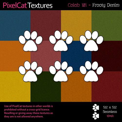 PixelCat Textures - Colab 101 - Frooty Denim