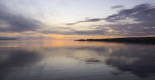 ocean reflection water nova rose clouds sunrise landscape bay atlantic scotia oceanscape