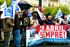25th April 2012 Portuguese Police demonstration