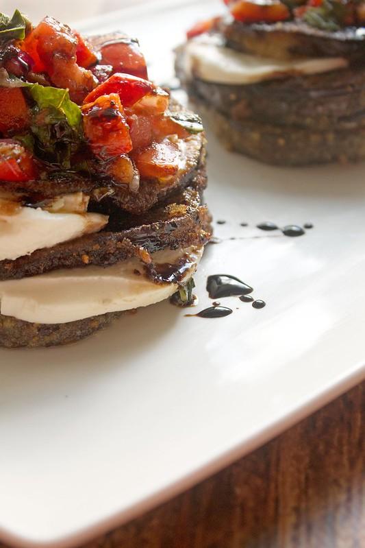 Eggplant & Bruschetta Napoleons