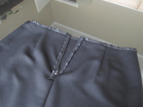 Black Pencil Skirt - In Progress