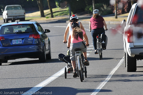 N Willamette Blvd bike lanes-2