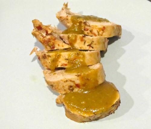 Chili Pork Tenderloin with Poblano-Tomatillo-Lime Sauce (18)