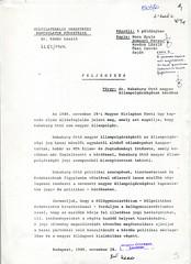 120. Külügyminisztériumi feljegyzés Habsburg Ottó állampolgárságának tisztázására