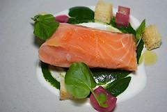 hors d'oeuvre, salmon, sashimi, fish, produce, food, dish, cuisine, smoked salmon,