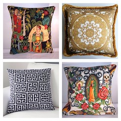 Which one os your favorite? #unda #versace #pillow #fabric #luxury #textile #pattern #skulls #frida #ethnic #interior #design #decor #home #livingroom #bedroom #summer #colors