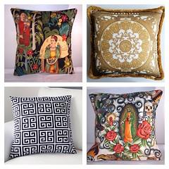 Which one os your favorite? #unda #versace #pillow #fabric #luxury #textile #pattern #skulls #frida #ethnic #interior #design #decor #home #livingroom #bedroom #summer #colors