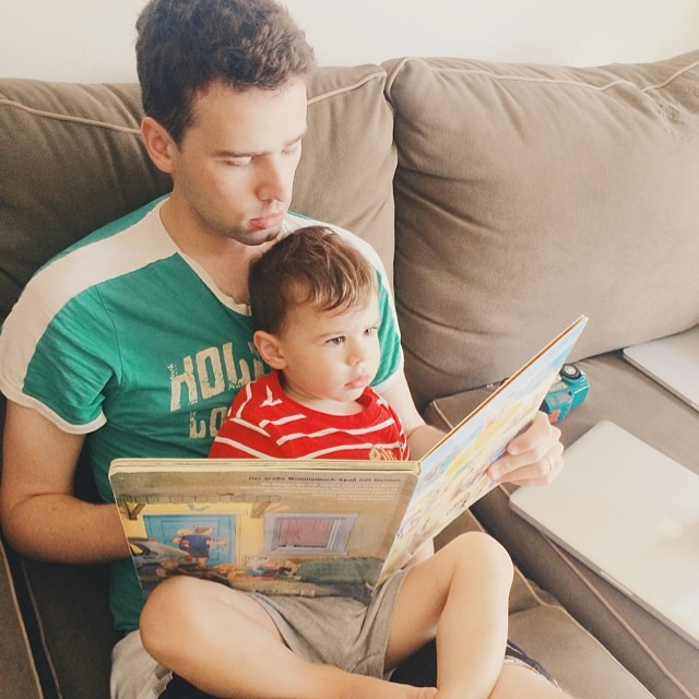 Sunday morning. #instaluther #toddler #fatherhood #reading #children