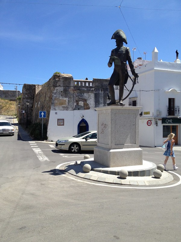 The statue of General Francisco de Copons who defended Tarifa in 1812 from the Imperial French army