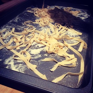 #kvpkitchen Fresh pasta!! Ready for some sauce!!
