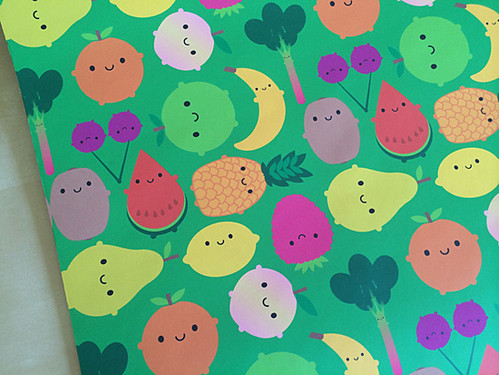 Fruit Bowl gift wrap from Spoonflower